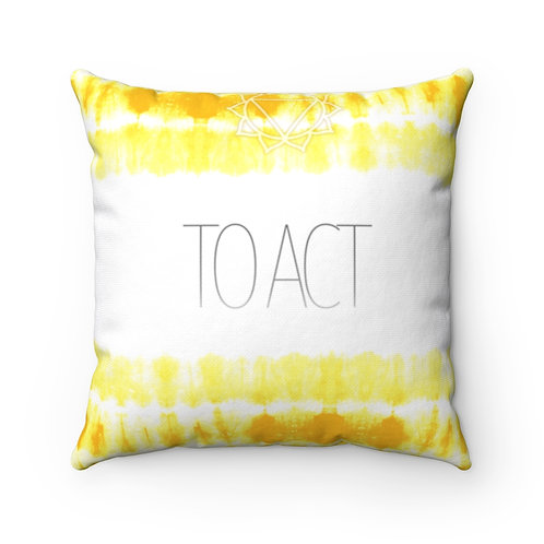 Chakra- To Act Square Pillow Case