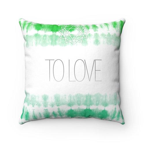 Chakra- To Love Square Pillow Case
