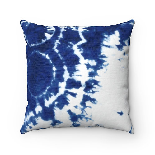 2 Dye 4- Blue and White Square Pillow Case