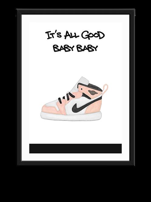 It's All Good- Peach Print