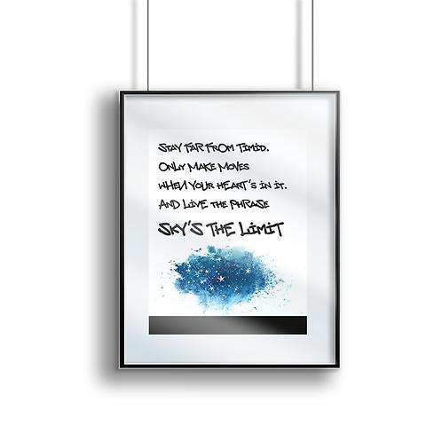 Sky's The Limit Print