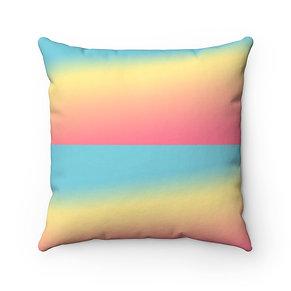Sherbert Rainbow Square Pillow Case