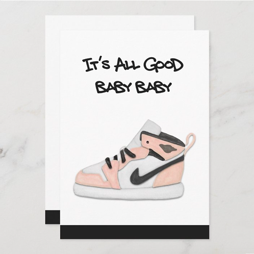 It's All Good Baby-Peach, BLANK back