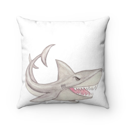 Great White Faux Suede Square Pillow