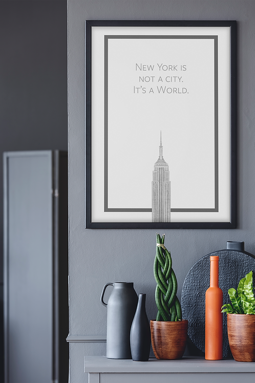 New York is Not a City Print