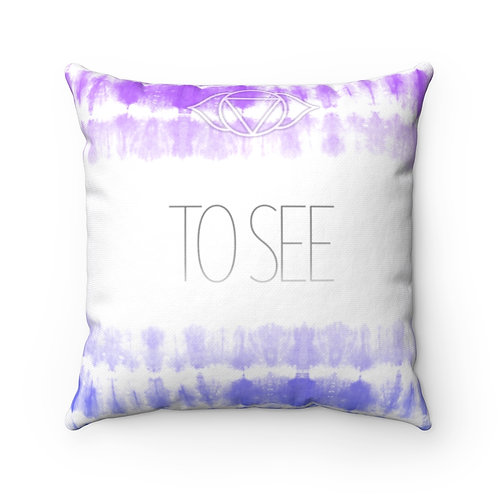 Chakra- To See Square Pillow Case