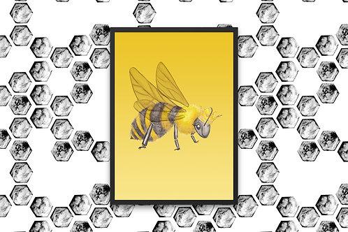 Just Bee- Yellow Print