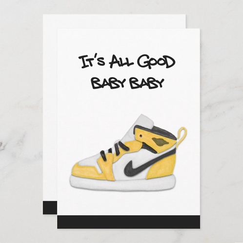 It's All Good Baby- Yellow, BLANK back