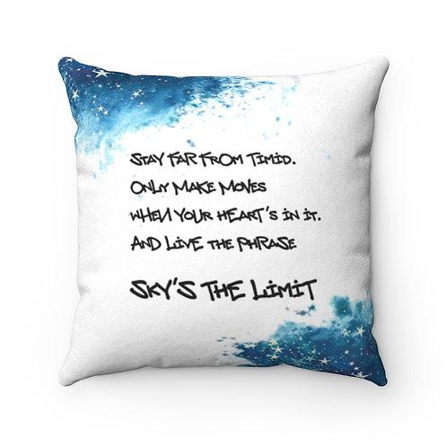 Sky's The Limit Faux Suede Square Pillow