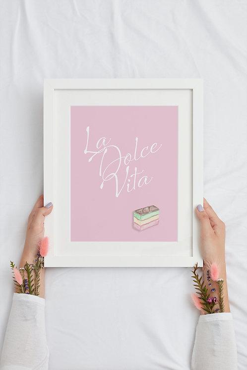La Dolce Vita- Pink Print