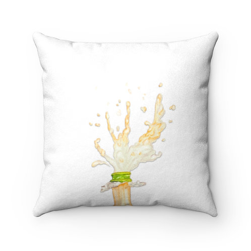Champagne Faux Suede Square Pillow