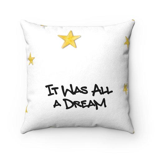 Dream Faux Suede Square Pillow