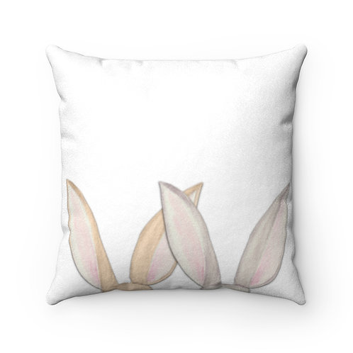 Bunny Faux Suede Square Pillow