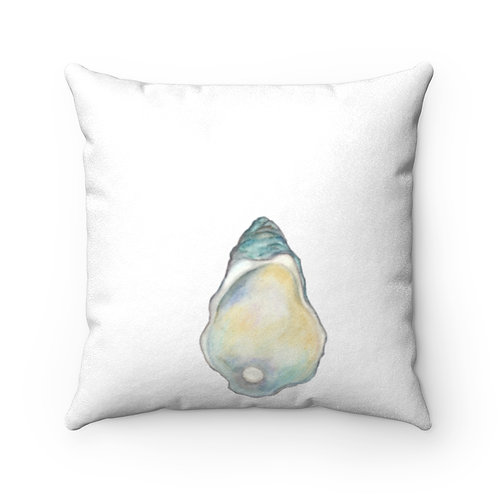 Oyster Faux Suede Square Pillow