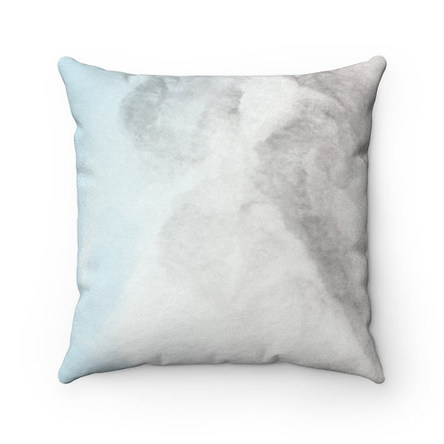 Angel Wings Faux Suede Square Pillow