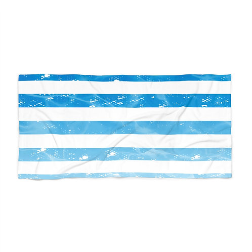 Water Stripes Beach Towel