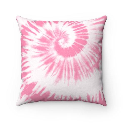 2 Dye 4- Pink Swirl Square Pillow Case