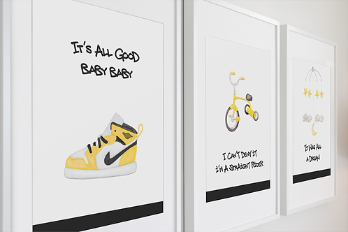 It's All Good- Yellow Print