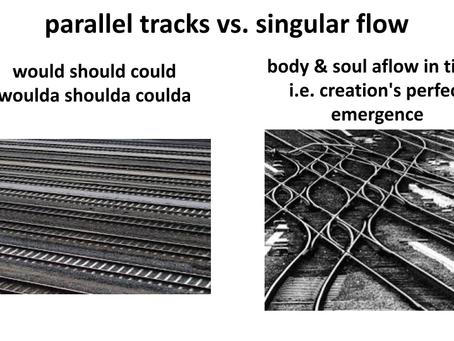 parallel tracks vs. singular flow