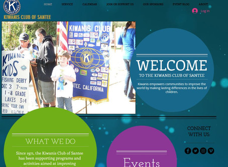 Santee Kiwanis Launches New Website