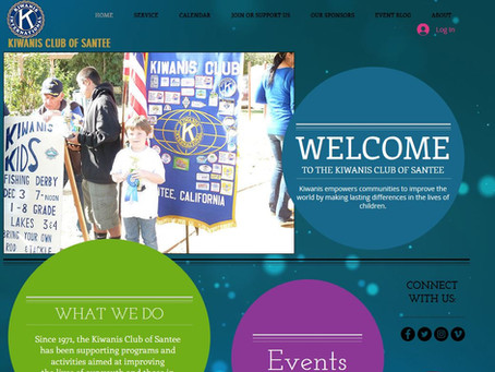 Santee Kiwanis Launches New Website