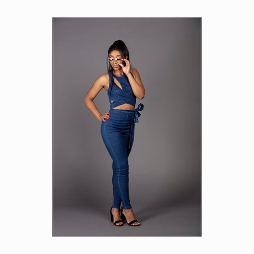 The Whole Package Denim Jumpsuit