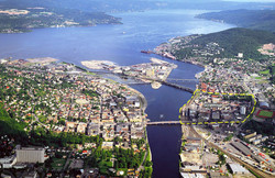 Drammen - vue aérienne