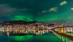 Drammen vue de nuit