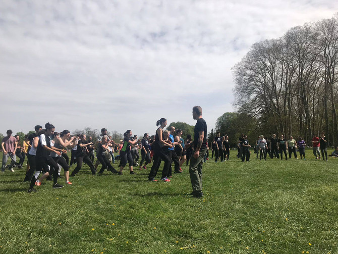 Initiation de Krav Maga au parc de la Tête d'Or