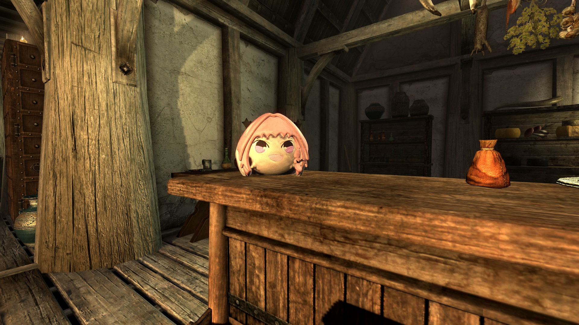 Cursed Astolfo Plushie in Skyrim
