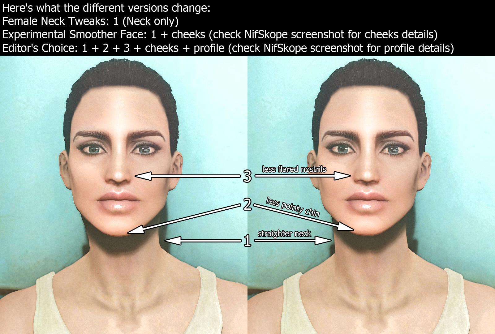Female Neck Tweaks