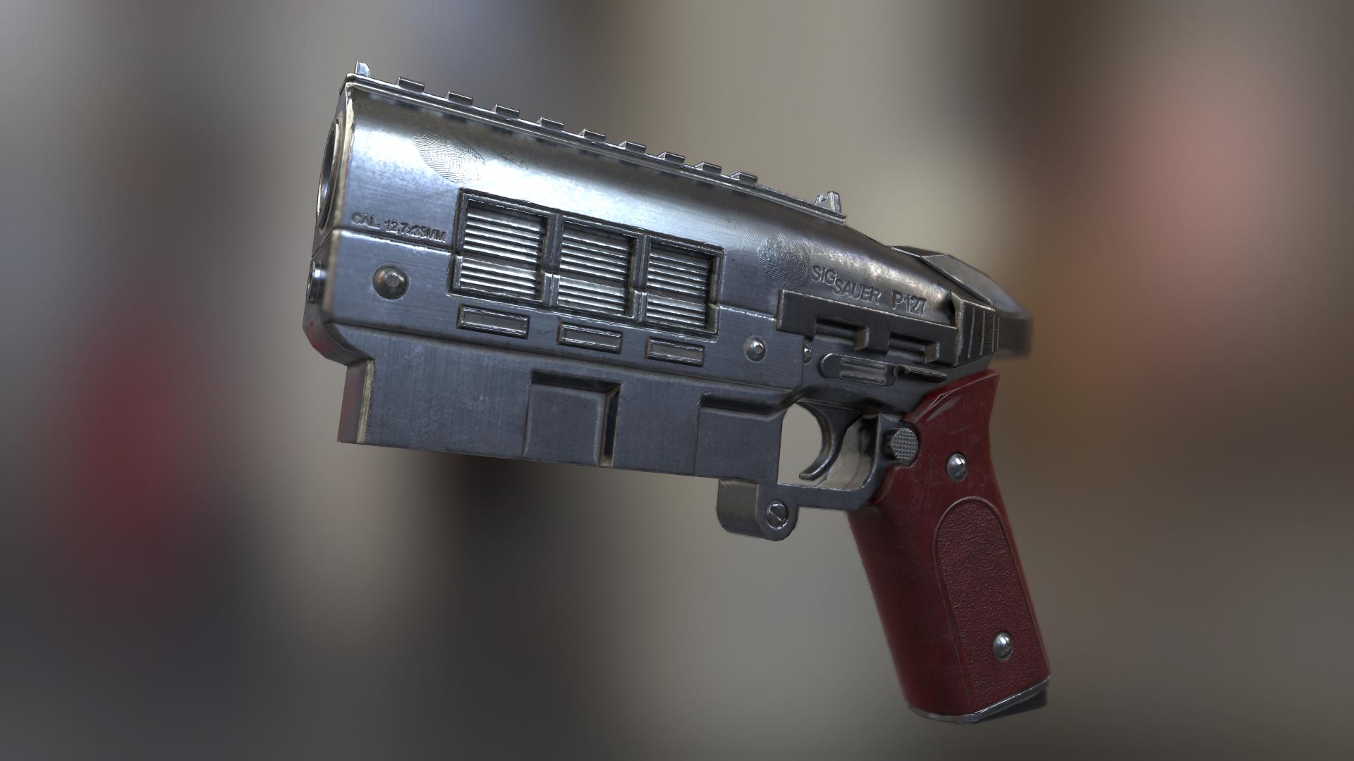 12.7mm Pistol