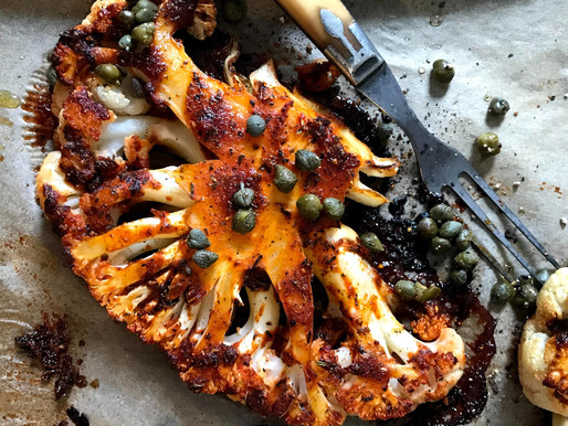 Spicy Roasted Cauliflower Steaks With Capers