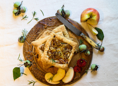 Savory Apple and Onion Tarts