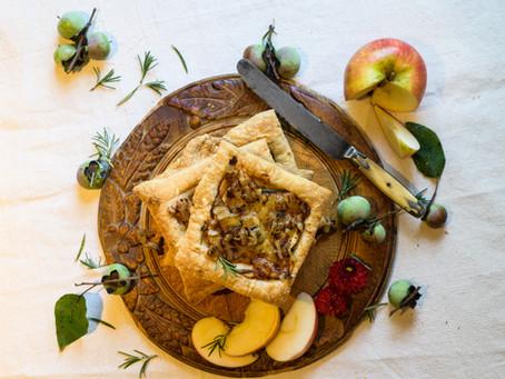 Savory Apple and Onion Tarts