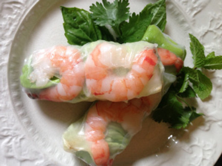 Vietnamese Spring Rolls and Peanut Sauce
