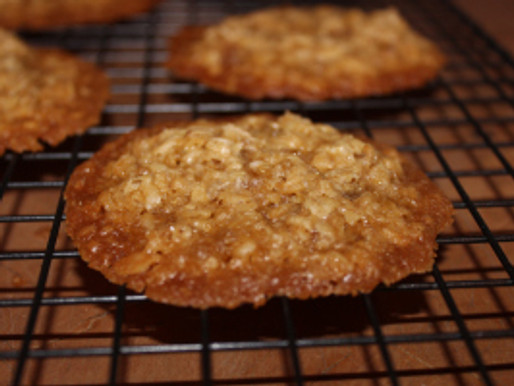 Oatmeal Ginger Lace Cookies