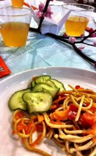 Soba Noodles and Cucumber Salad