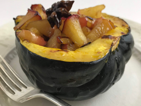 Acorn Squash with Apples, Ginger and Star Anise