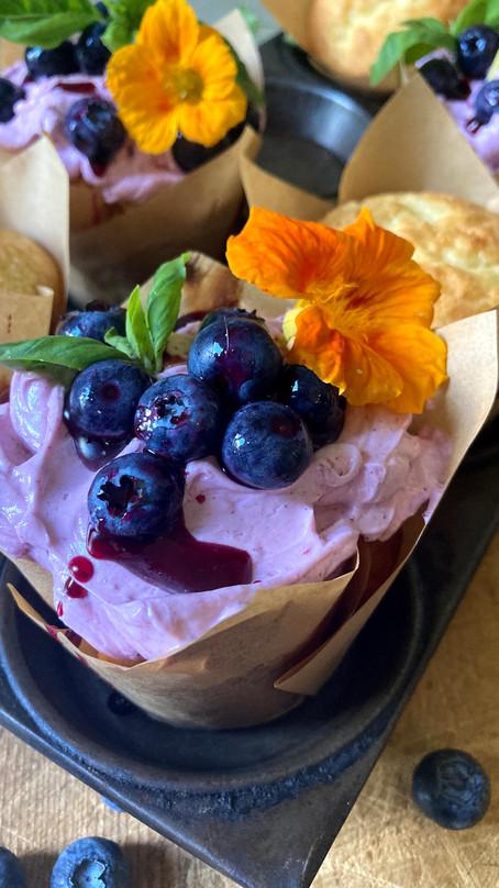 Blueberry Swiss Meringue Buttercream