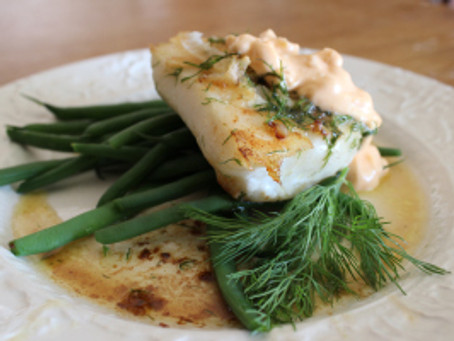 Cod with Dill and Preserved Lemon Sauce