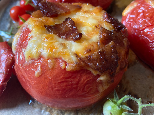 Roasted Tomatoes with Sherry and Bacon