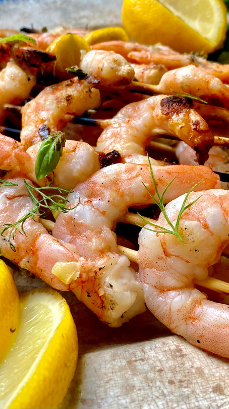 Grilled Shrimp with Herb Butter
