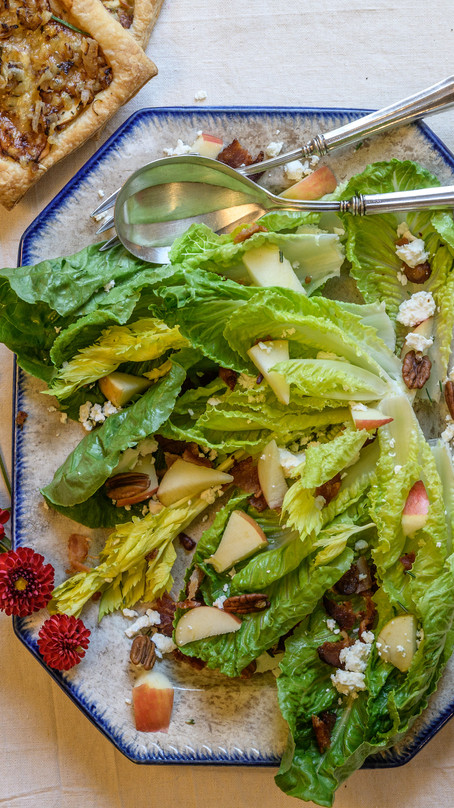 Apple Bacon Salad with Maple Balsamic Dressing