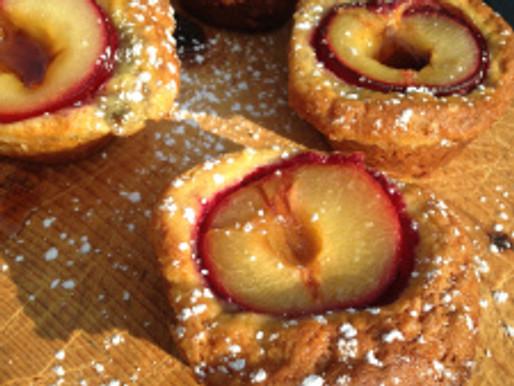 Roasted Plum Cakes