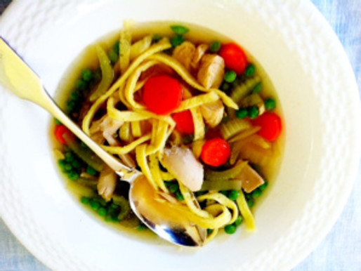 Chicken Soup with Fresh Egg Noodles