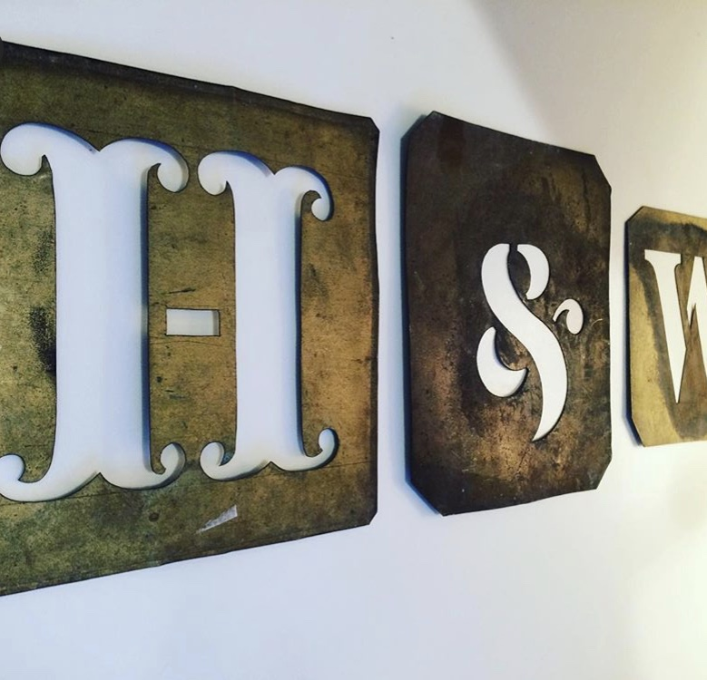 vintage letters brighton