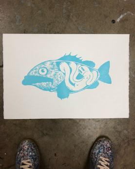 Fish Screenprint