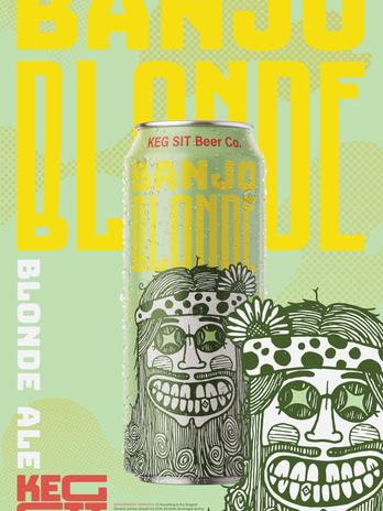 Banjo Blonde Poster