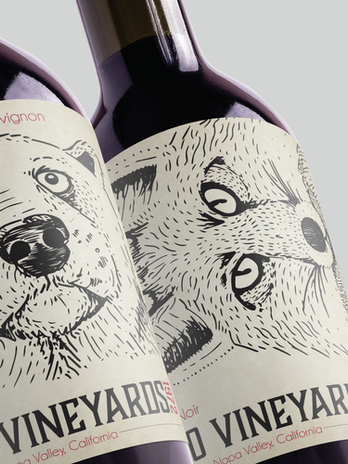 Paseo Vineyards Wine Bottles